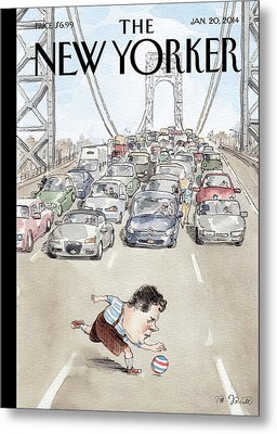 Chris Christie Plays With A Ball On The George Metal Print by Barry Blitt