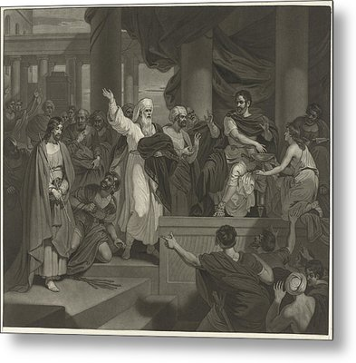 Christ Before Pilate, Charles Howard Hodges Metal Print by Charles Howard Hodges And Robert Smirke