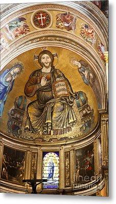 Christ In Majesty  Pisa Duomo Metal Print by Liz Leyden