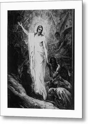 Christ Preaching To The Spirits In Prison C. 1910 Metal Print by Daniel Hagerman