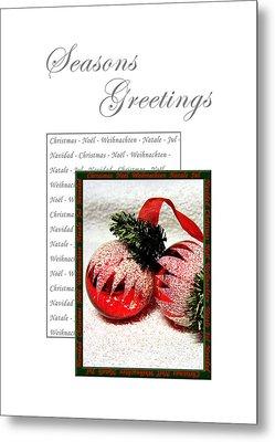 Christmas Decoration 1 Metal Print