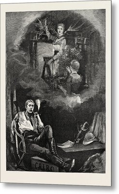 Christmas Eve Engraving 1884 Metal Print