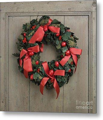 Christmas Wreath Metal Print by Bernard Jaubert