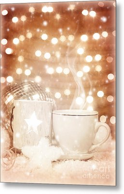 Christmastime Coffee Metal Print by Anna Om