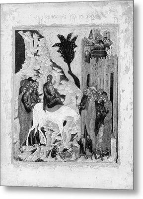 Christs Entry Into Jerusalem Metal Print