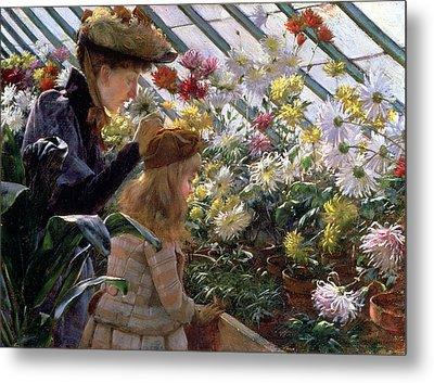 Chrysanthemums, 1890 Metal Print