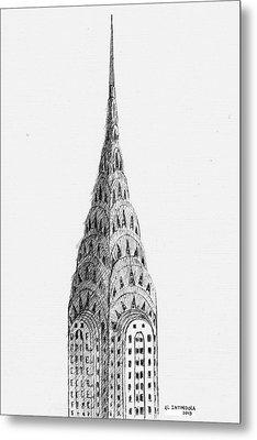 Chrysler Building Metal Print by Al Intindola