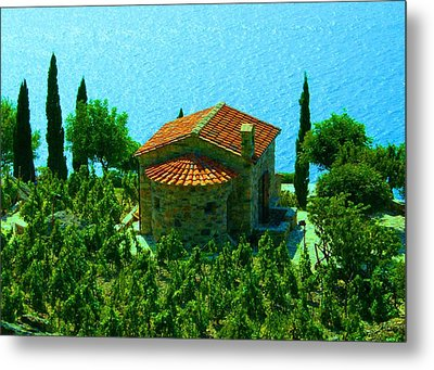Metal Print featuring the photograph Enchanted Church Between Sea And Nature by Giuseppe Epifani