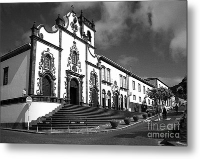 Church In Vila Franca Do Campo Metal Print by Gaspar Avila