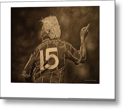 Metal Print featuring the painting Ciaran Mcdonald by David Dunne