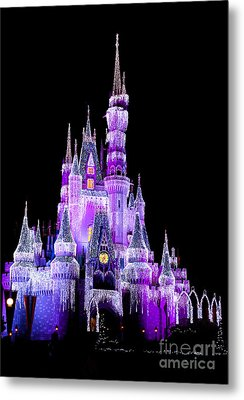 Cinderella's Castle Metal Print by Lisa L Silva