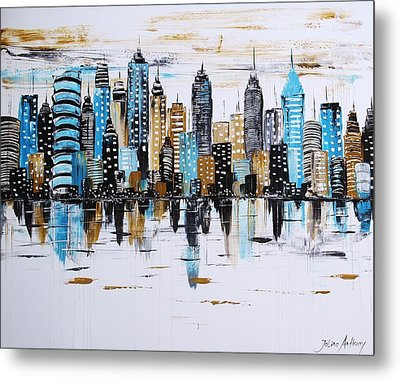 City Abstract Metal Print by Jolina Anthony
