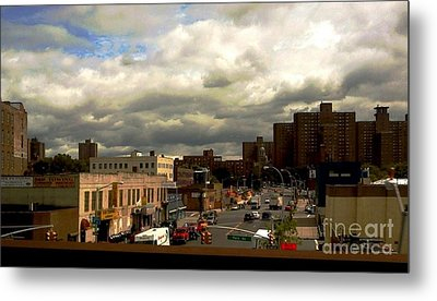 City And Sky Metal Print by Miriam Danar
