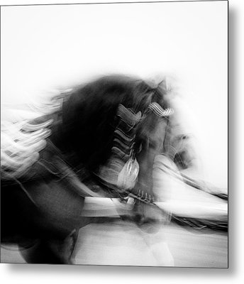 City Horses Metal Print by Dave Bowman
