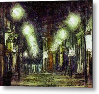 Metal Print featuring the drawing City Street by Joe Misrasi