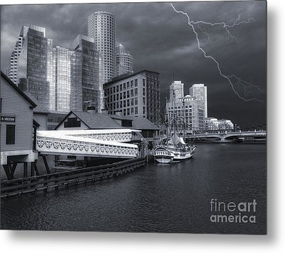 Metal Print featuring the photograph Cityscape Storm by Gina Cormier