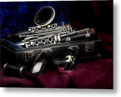 Clarinet Still Life Metal Print by Tom Mc Nemar