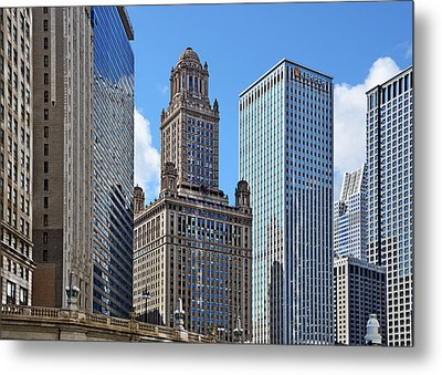 Classic Chicago -  The Jewelers Building Metal Print by Christine Till