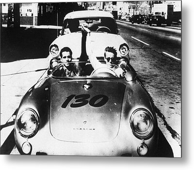 Classic James Dean Porsche Photo Metal Print