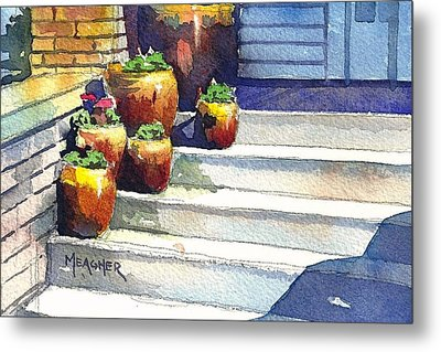 Clay Pots Metal Print by Spencer Meagher