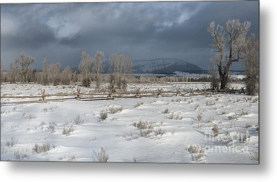 Clearing Storm In The Tetons Metal Print by Sandra Bronstein