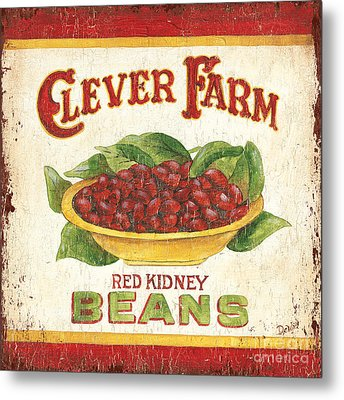 Clever Farms Beans Metal Print by Debbie DeWitt