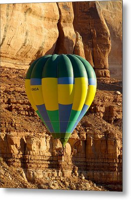 Cliff Coasting Metal Print by Feva  Fotos