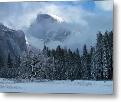 Cloaked In A Snow Storm Metal Print by Heidi Smith