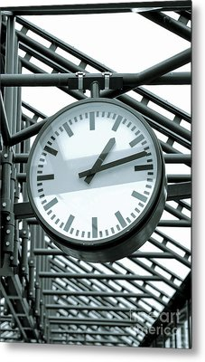 Clock Metal Print by Design Windmill