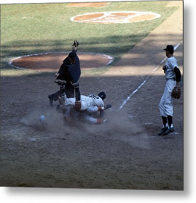 Close Play At The Plate  Metal Print by Retro Images Archive