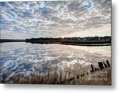 Clouded Reflection Metal Print by Joan McCool