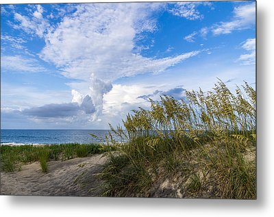 Metal Print featuring the photograph Clouds And Sea Oats by Gregg Southard