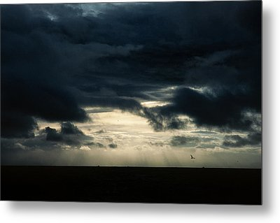 Clouds Sunlight And Seagulls Metal Print