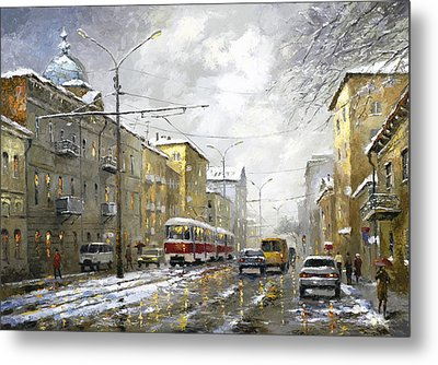 Metal Print featuring the painting Cloudy Day by Dmitry Spiros
