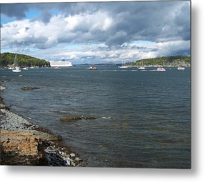 Metal Print featuring the photograph Cloudy Harbor by Gene Cyr