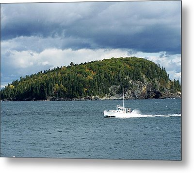 Metal Print featuring the photograph Cloudy Island by Gene Cyr