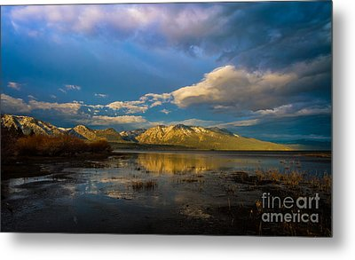 Cloudy Sunrise Metal Print by Mitch Shindelbower