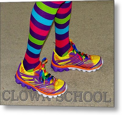 Clown School Metal Print
