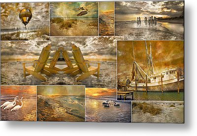 Coastal Connections Metal Print by Betsy Knapp