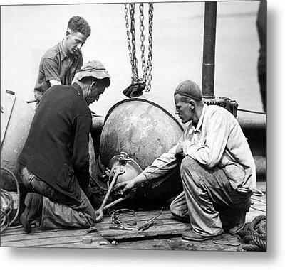 Coastal Defense Mines Metal Print by Underwood Archives