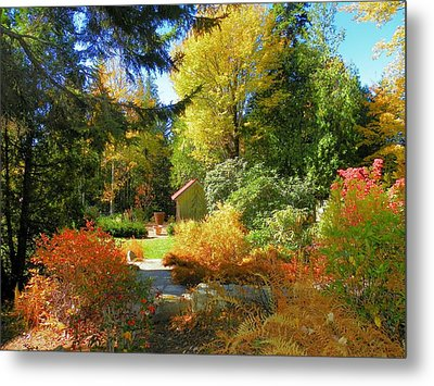 Metal Print featuring the photograph Coastal Maine Garden by Gene Cyr