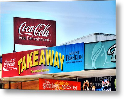 Coca-cola - Old Shop Signage Metal Print by Kaye Menner