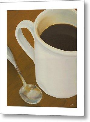 Coffee Mug And Spoon Metal Print