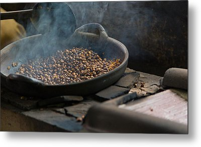 Metal Print featuring the photograph Coffee Roasting - Bali by Matthew Onheiber