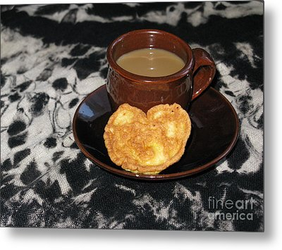 Coffee Served With Love Metal Print by Ausra Huntington nee Paulauskaite