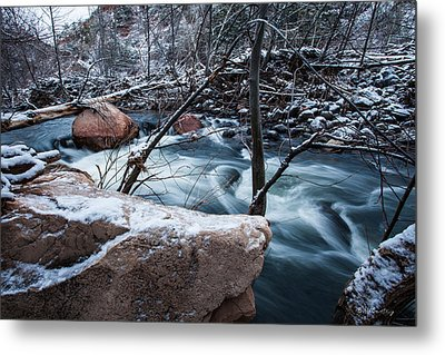 Cold Drift Metal Print by Bill Cantey