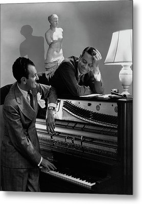 Cole Porter And Moss Hart At A Piano Metal Print