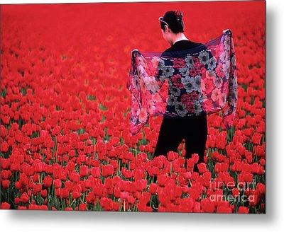 Color Me Tulip Metal Print by Bob Christopher