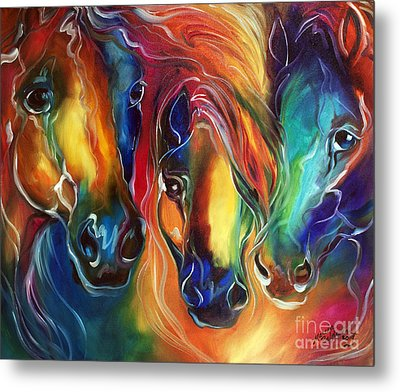 Color My World With Horses Metal Print by Marcia Baldwin