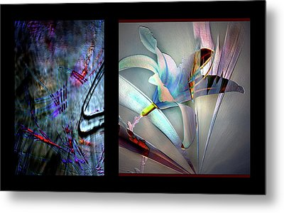 Color Palete Of A Pink And Blue Lily Metal Print by Irma BACKELANT GALLERIES
